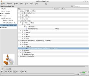 VLC DNLA client