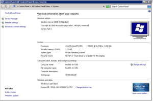 Windows 2008 Service pack 1 63 bit