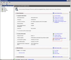Internet Explorer Enanched  Security Configuration