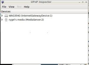 UPnP inspector find rygel