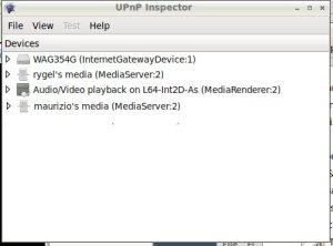UPnP Inspector media server e media renderer