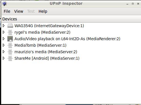 UPnP ispector Android ShareMee