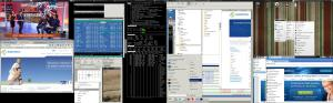 awesome dual monitor screenshoot