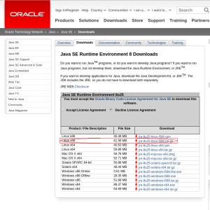 Java SE JRE 8 Download