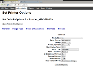 Brother mfc 5890cn default option