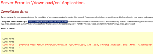 Compiler Error CS0433