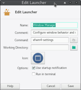 Window Manager launcher